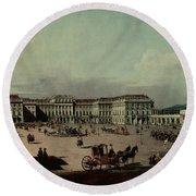Schloss Schonbrunn, 1759-60 Oil On Canvas Round Beach Towel