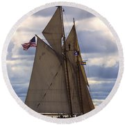 Schooner Virginia Round Beach Towel