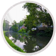 Schuylkill Canal Mont Clare Round Beach Towel