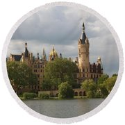 Schwerin Palace - Germany Round Beach Towel