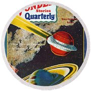 Science Fiction Cover, 1931 Round Beach Towel