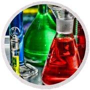 Science - Lab Glass Round Beach Towel