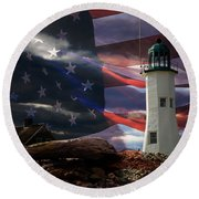 Scituate Strong Protecting American Shoreline Round Beach Towel