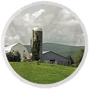 Scoharie New York Farm Round Beach Towel