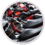 Scooter Brigade Round Beach Towel