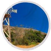 Scorpion Windmill Round Beach Towel
