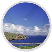 Scotland Shetland Islands Eshaness Cliffs Round Beach Towel