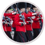 Scots Guards Round Beach Towel