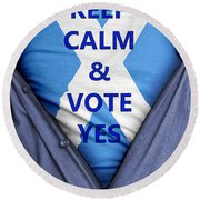 Scottish Businessman Votes Yes Round Beach Towel