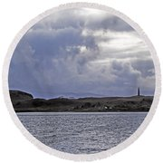 Scottish Storm Round Beach Towel