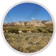 Scotts Bluff National Monument - Scottsbluff Nebraska Round Beach Towel
