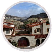 Scotty's Castle Round Beach Towel
