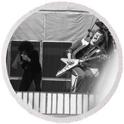 Screaming Guitsr Of J. Geils 1976 Round Beach Towel