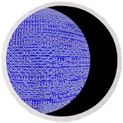 Screen Orb-05 Round Beach Towel
