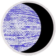Screen Orb-09 Round Beach Towel