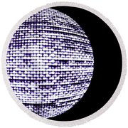 Screen Orb-15 Round Beach Towel