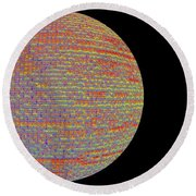 Screen Orb-17 Round Beach Towel