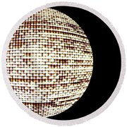 Screen Orb-19 Round Beach Towel