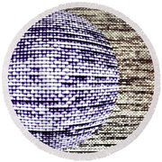 Screen Orb-26 Round Beach Towel