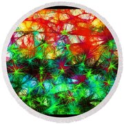 Scribble Thicket Round Beach Towel
