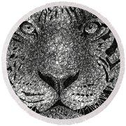 Scribble Tiger Round Beach Towel