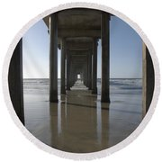 Scripps Pierla Jolla California Round Beach Towel
