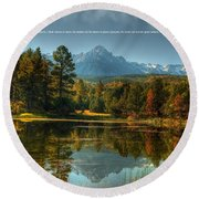 Scripture And Picture Psalm 23 Round Beach Towel