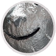 Sculp Face Round Beach Towel