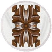 Sculpted Mandala Yantra Round Beach Towel