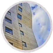 Sculpture Or Building Or Both 2 Round Beach Towel