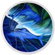 Sea And Sky Round Beach Towel