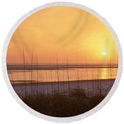 Sea At Dusk, Gulf Of Mexico, Tigertail Round Beach Towel by Panoramic Images