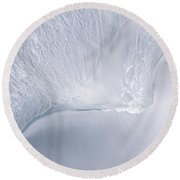 Sea Blue Water Abstract Round Beach Towel