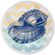 Sea Shell-c Round Beach Towel