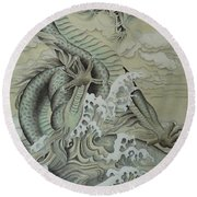 Sea Dragon Round Beach Towel