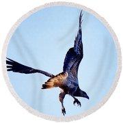 Sea Eagle Flight Round Beach Towel
