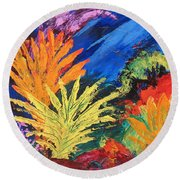 Sea Garden Round Beach Towel