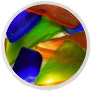 Sea Glass II Round Beach Towel
