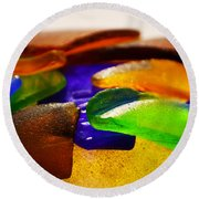Sea Glass IIi Round Beach Towel