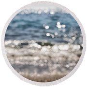 Sea Glitter Round Beach Towel