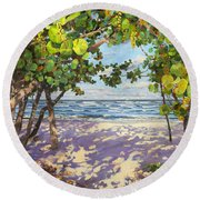 Sea Grape Delight Round Beach Towel