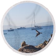 Sea Gull 2 Round Beach Towel