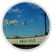 Sea Isle City Round Beach Towel