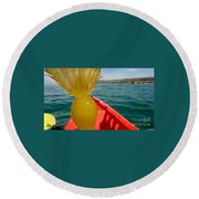 Sea Kayaking Find Round Beach Towel