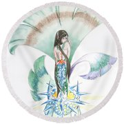Sea Maiden Round Beach Towel