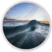 Sea Mountain Round Beach Towel by Sean Davey