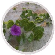 Sea Oat Purple Round Beach Towel