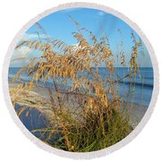 Sea Oats 2 Round Beach Towel