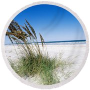 Sea Oats Round Beach Towel
