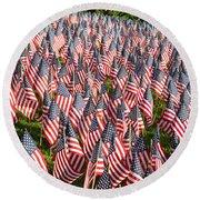Sea Of Flags Round Beach Towel